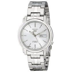 Seiko Men's SNKK65 Seiko 5 Automatic Stainless Steel Watch with Silver-Tone Dial