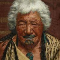 The Charles Goldie painting of Kapi Kapi, an Arawa chieftainess.