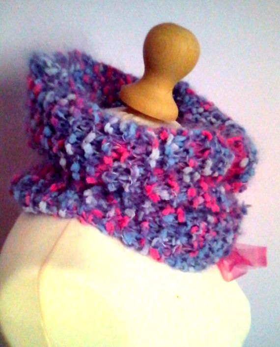 Girly handknitted / collar /  scarf / by KaterinakiJewelry on Etsy