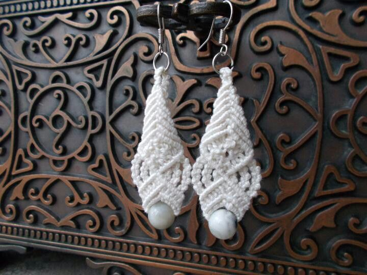 Earrings. The cost of one pair $18