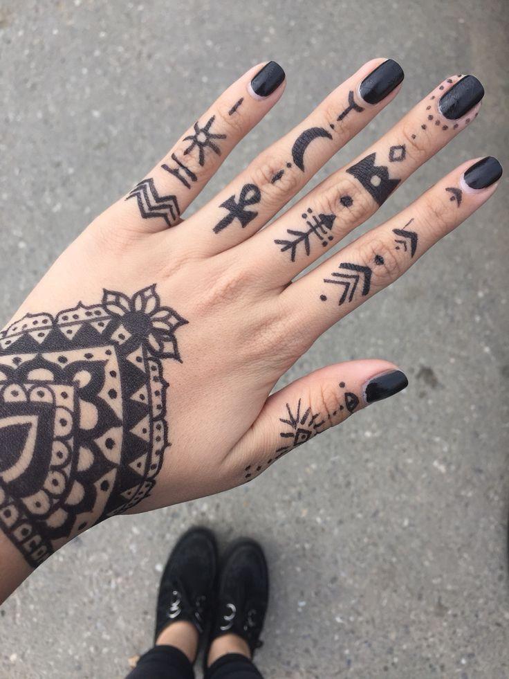 henna tattoo without henna // ayeehales
