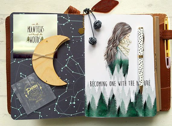 MIDORI FOLDER cover or planner Dashboard – WANDERLUST travellers Notebook chick sparrow and personal cover traveller foxy fox