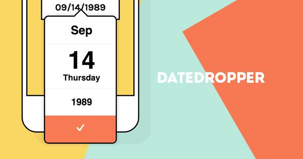 datedropper is an alternative to jQuery UI datepicker. Manage date input fields in a standard form. Focus on the input to open an small interactive calendar.