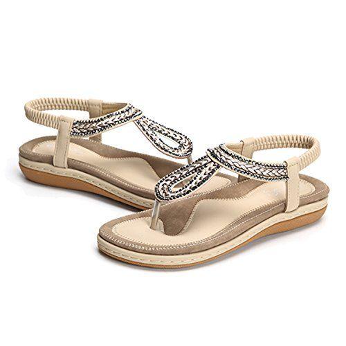 Ville Été De Sandales Chaussures Femmes Plates Gracosy À Style PkZXiu
