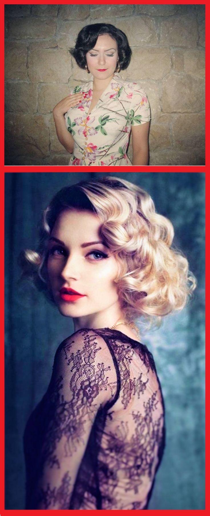 50s 60s Frisuren Frauen kurzes Haar, um sich zu machen