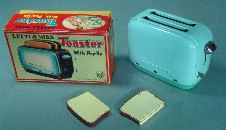 Vintage Japan Tin Little Miss Toaster