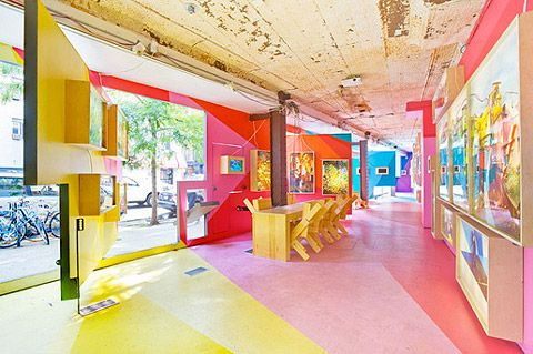 Art for Architecture storefront via Lifework by Herman Miller