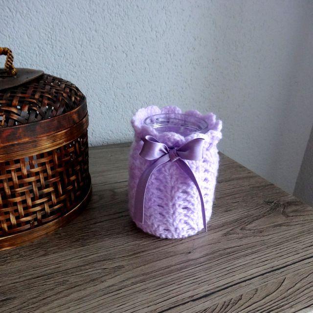 crochet jar cosy