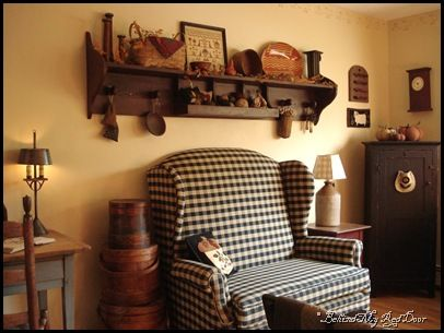 Primitive Curtains | Behind My Red Door: finally, more fall decor…..