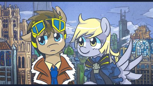 D'awwww! 273106__safe_derpy-hooves_animated_tumblr_cute_doctor-whooves_clothes_adorable_goggles_heart-attack_steampunk_cuddling_nuzzle_artist-saturnspace_50e8353ca4c72dbd2a00111d_puella-magi-madoka.gif (500×281)