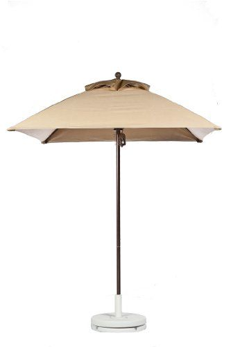 6.5 ft Square Wind Resistant Commercial Grade Market Umbrella by Frankford Fabric Color: Toast Color for Frame: Bronze Review http://homepatiogarden.net/6-5-ft-square-wind-resistant-commercial-grade-market-umbrella-by-frankford-fabric-color-toast-color-for-frame-bronze-review/