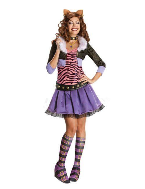 Monster High Clawdeen Wolf Deluxe Damenkostüm Lizenzware bunt, aus unserer Kategorie Film- & Promikostüme. Werwolf-Teenie Clawdeen ist einer der absoluten Stars der Monster High. Mit ihren Freundinnen erlebt sie zahlreiche gruselige Abenteuer, die Mädchenherzen höher schlagen lassen! Ein stylisches Kostüm für Faschingspartys, Halloween und Mottopartys. #Karnevalskostüm