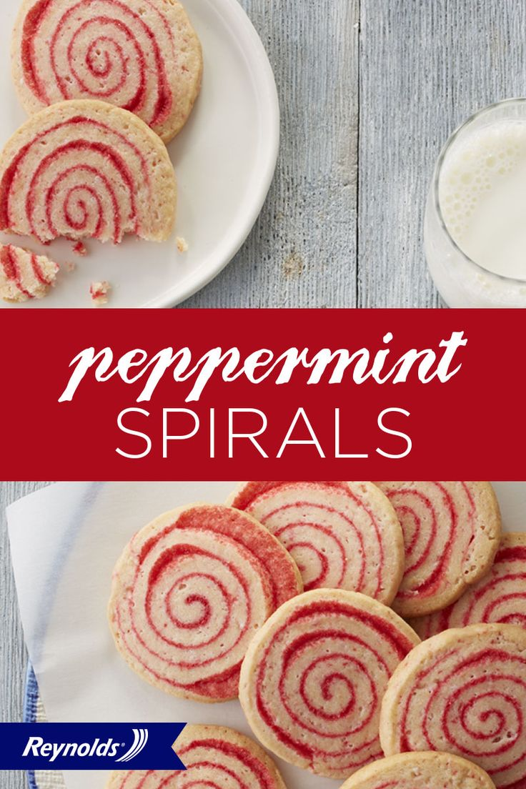Bake these swirly, minty cookies over the holidays for a treat that will satisfy every sweet tooth—even Santa's! Line your baking sheet with Reynolds Parchment Paper, available in rolls or pre-cut sheets, for cookies that don't stick and fast, easy cleanup!
