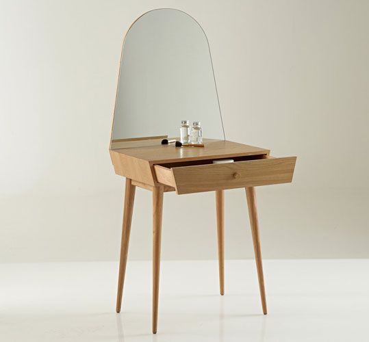 small vanity table with mirror. Midcentury style Clairoy compact dressing table at La Redoute The 25  best Small ideas on Pinterest