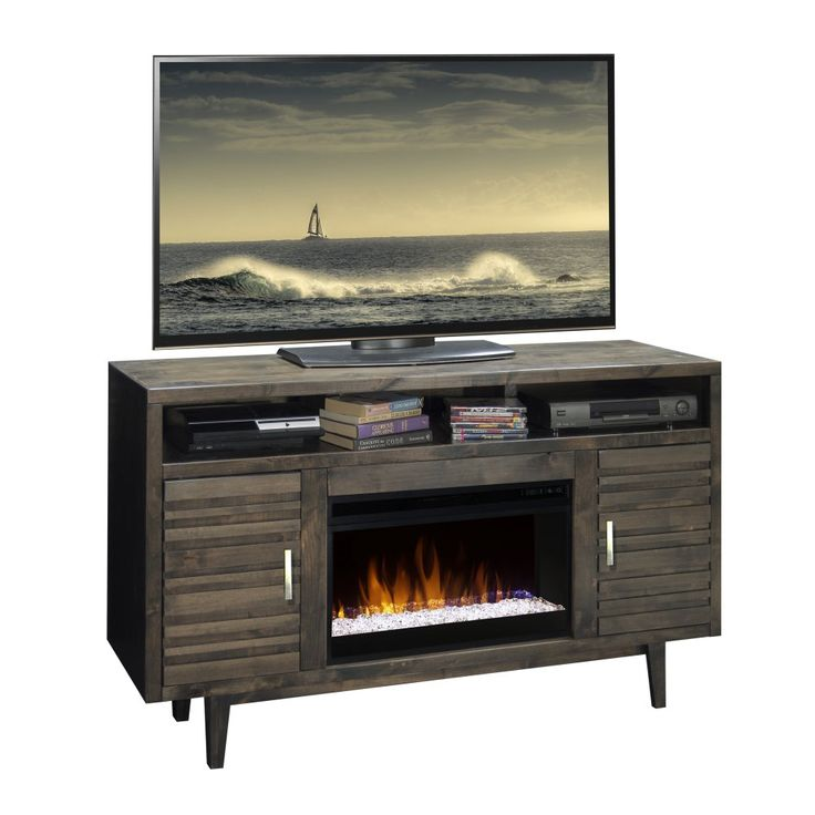 Legends Furniture Avondale 61 in. Electric Media Fireplace - A charming freestanding option for your living room, bedroom, or den, the Legends Furniture Avondale 61 in. Electric Media Fireplace offer...