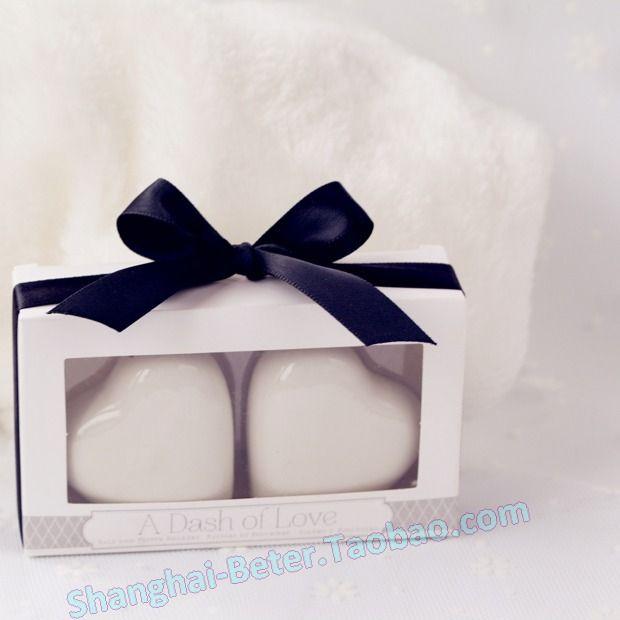 Heart Shaped Salt And Pepper Shaker Wedding Souvenirs BETER TC023