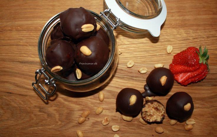 Snickerskugler - opskrift