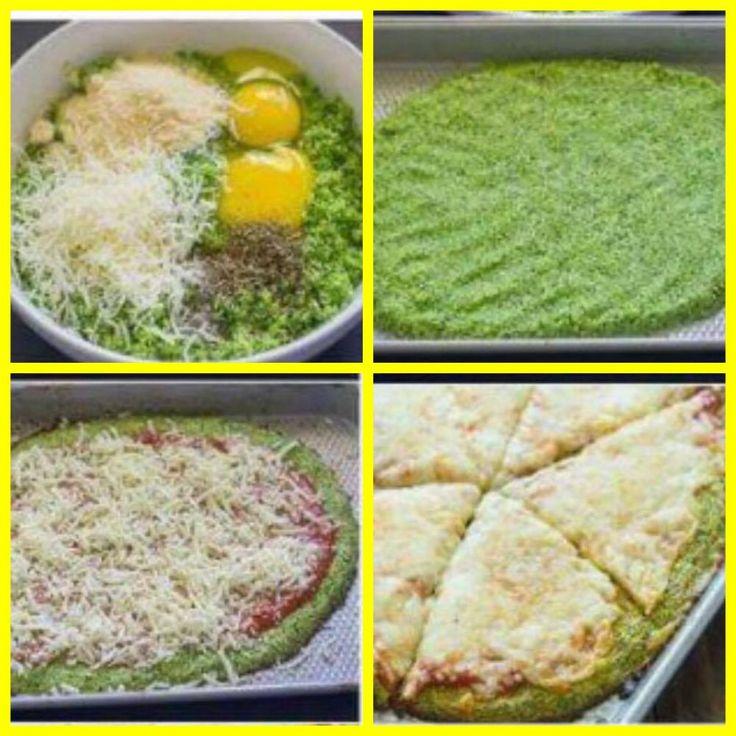 Pizza de brócolis, Saudável, deliciosa, sem glúten, com baixo teor de carboidratos e super fácil de fazer Você faz a...