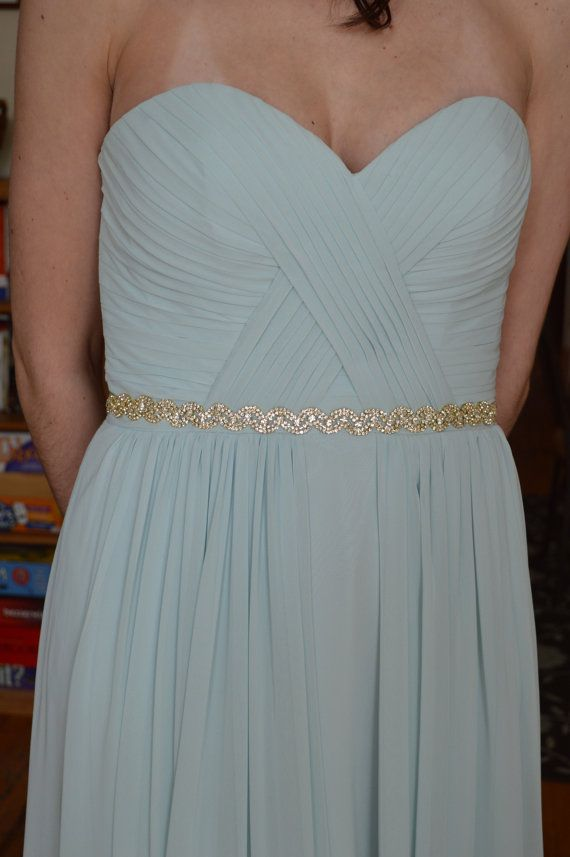 Gold Wedding Belt,Gold Wedding Sash,Gold Bridal Belt,Gold Bridesmaid Belt,Rhinestone Sash,Gold Crystal Sash,Golden Rhinestone