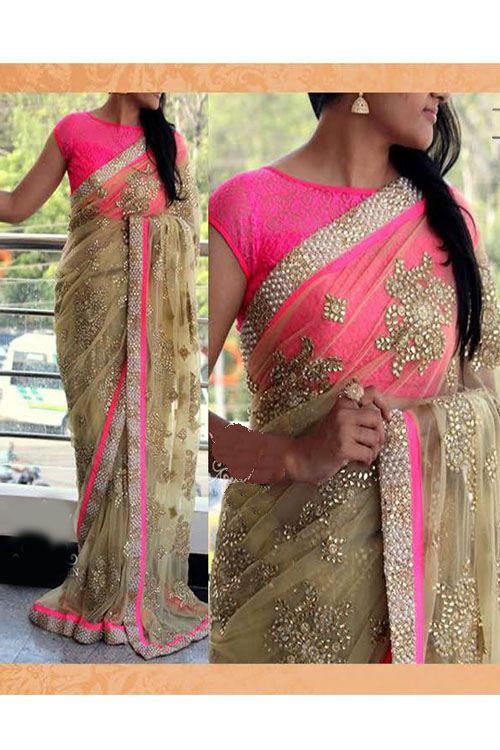 Designer Party Wear Stylish Net Saree