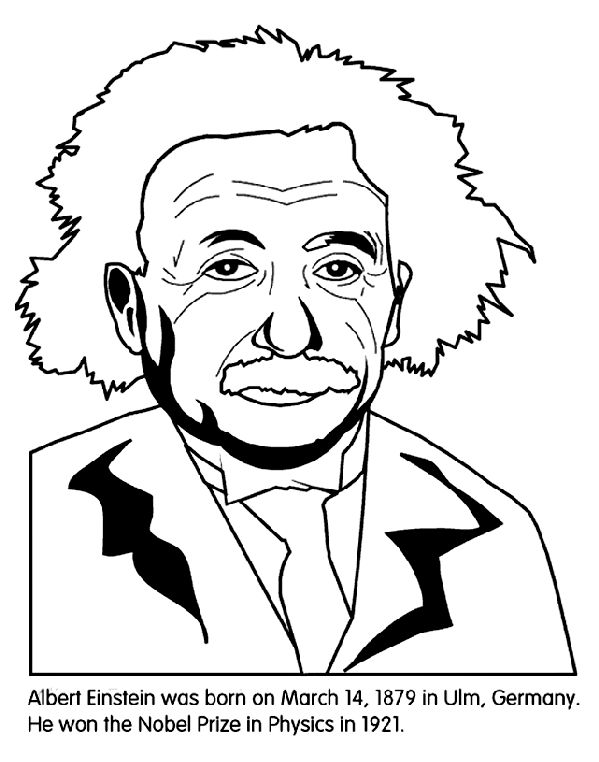 albert einstein coloring page even little ones can get in on the learning
