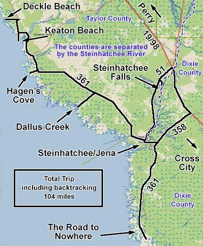 Steinhatchee road to nowhere dallus creek hagen 39 s cove for Steinhatchee fl fishing