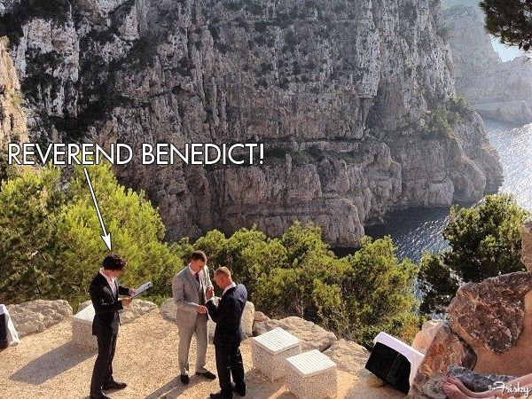 Benedict Cumberbatch officiates Gay Marriage *swoon*