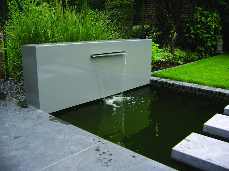 Adezz Garden Water Feature Aluminium Free Standing Pond Wall Garden Design Pinterest
