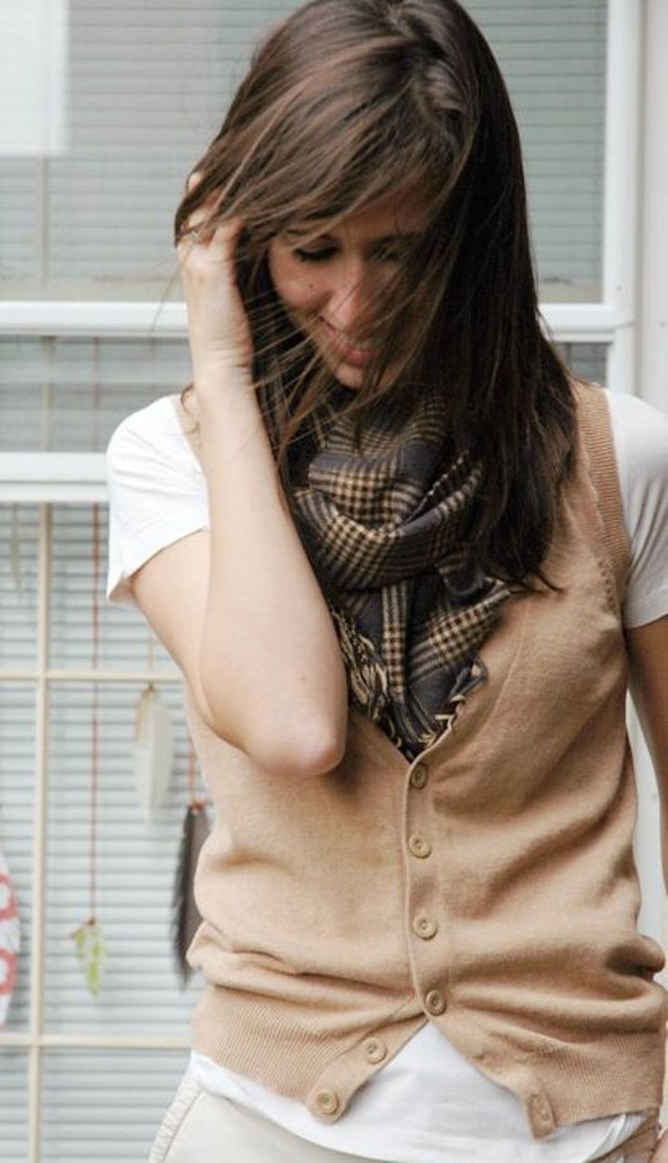 brown womens sweater vest with buttons