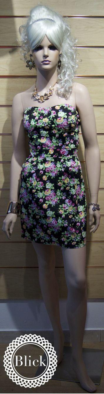 Vestido straple #primavera  #blickmoda
