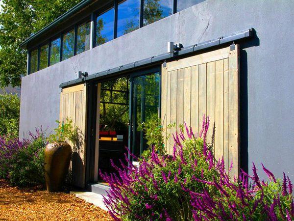 Large sliding barn door portal...