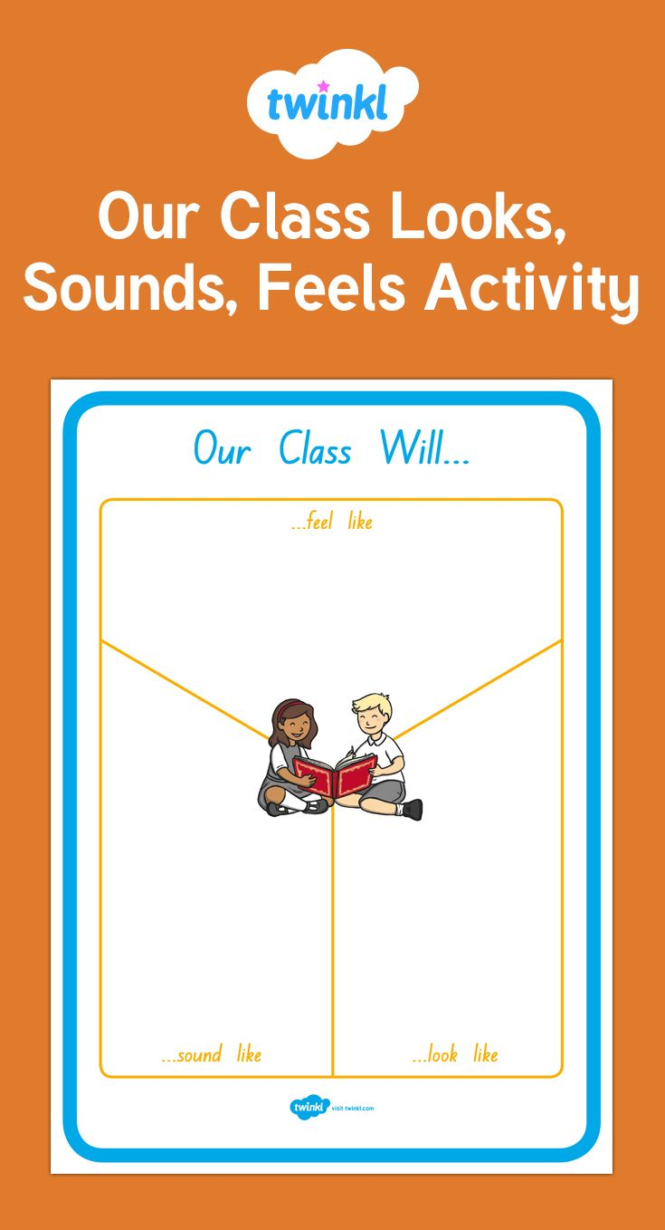 Y charts are perfect for children to think about how their class feels, looks and sounds.