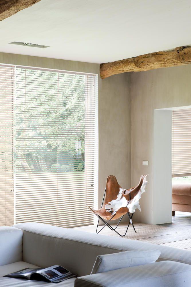 Copahome raamdecoratie horizontale jaloezieën, neutraal beige / La décoration de fenêtre. Stores vénitiens neutre, crème