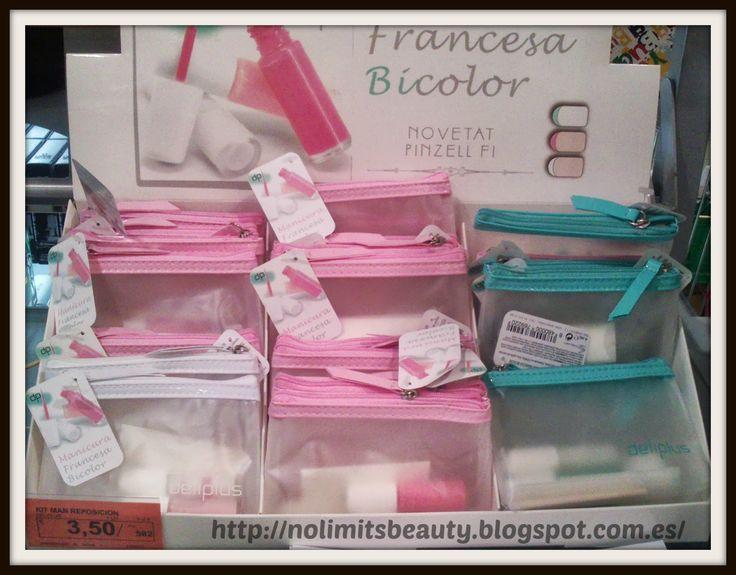 Kit de Manicura Francesa Bicolor - Deliplús   http://nolimitsbeauty.blogspot.com.es/2013/08/novedades-mercadona-agosto-2013.html