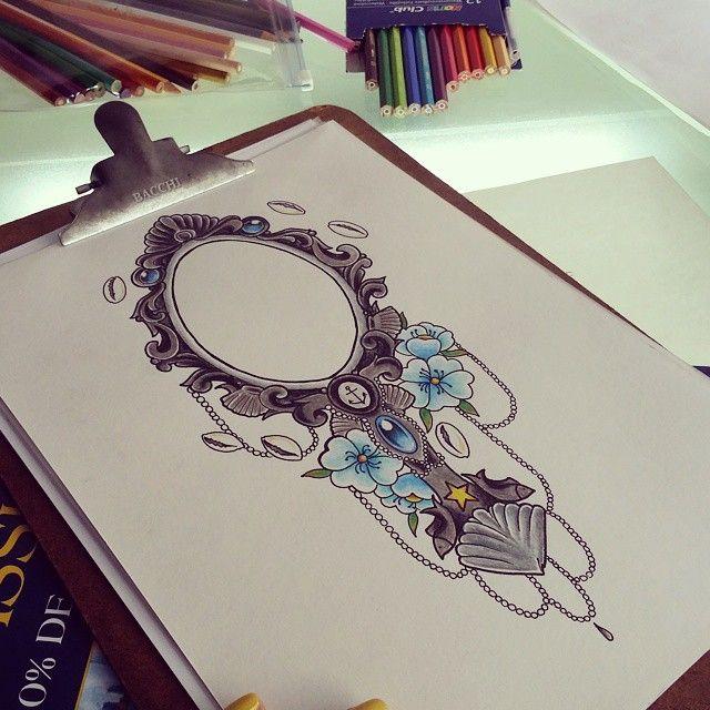 Dibujo de espejo de Yemonja 💙