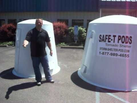 Tornado Shelter by Safe-T Pod - YouTube