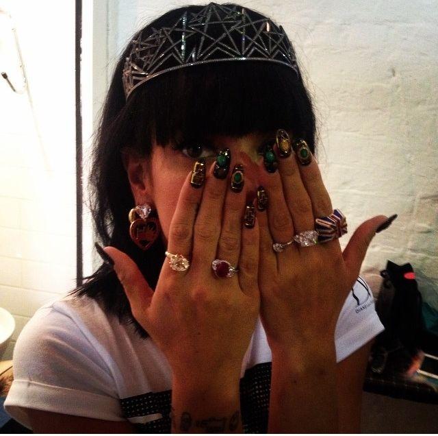 Lily Allen - Wearing Maria Francesca pepe '15