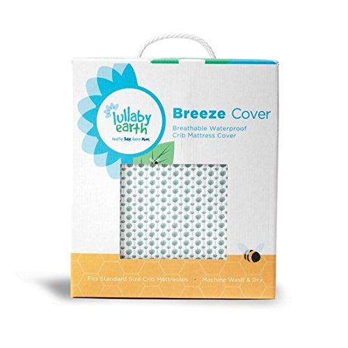 lullaby earth breeze breathable washable crib mattress pad in green