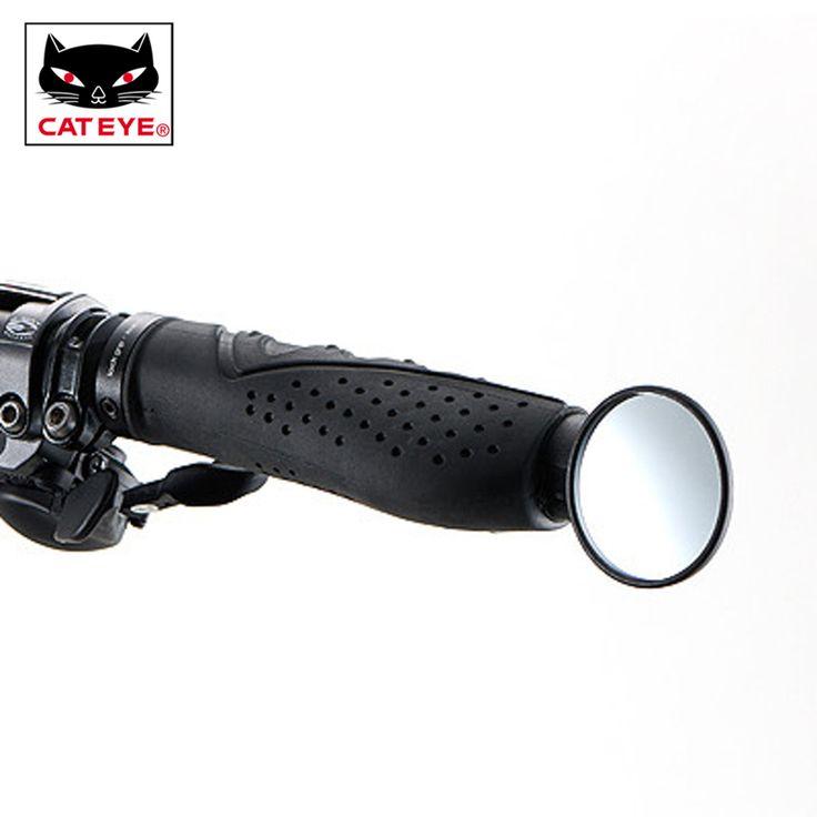 promo cateye bike mirrors cycling mtb road bicycle handlebar rearview mirror flexible adjustable safe #mirror #glass