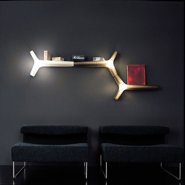 Illuminated wall feature for dark apartment walls