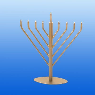 The Holiday Aisle Electric Menorah Color: Gold