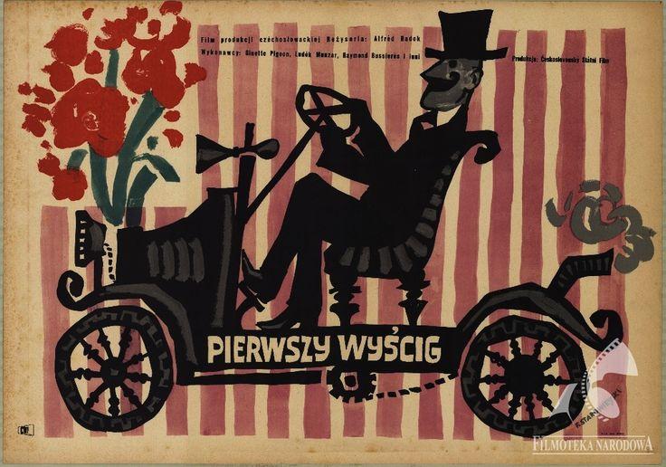 Polish posters: PIERWSZY WYŚCIG - Franciszek Starowieyski (1957)