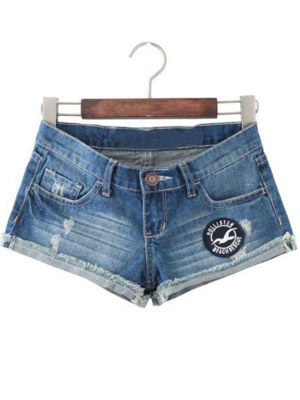 Print Street Turn Up Button Fly Shorts : KissChic.com