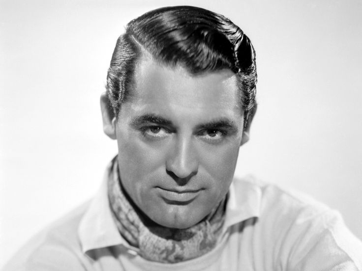 Cary Grant, with a great side parting. BTW: This used to be shaved, in order to appear precise at any time