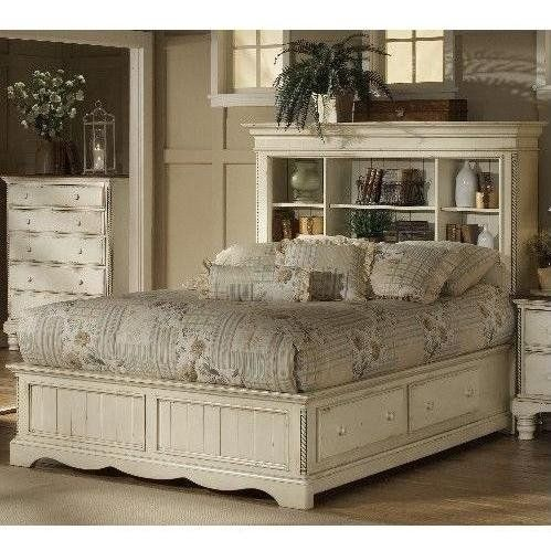 Antique White Wilshire Bookcase  wilshire storage bookcase bedroom set   antique white finish  wilshire king size bookcase bed with storage in  antique white. 17 Best images about Taking the Master bedroom back  on Pinterest