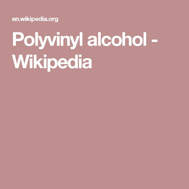 Polyvinyl alcohol - Wikipedia