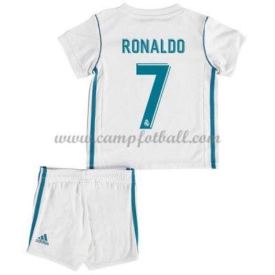 Fotballdrakter Barn Real Madrid 2017-18 Cristiano Ronaldo 7 Hjemme Draktsett