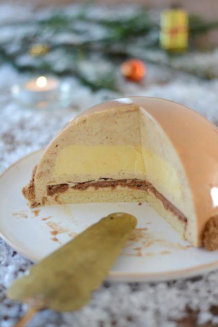 Dôme de Noël au praliné et citron - Recette par Chic Chic Chocolat