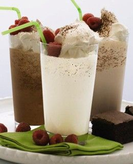 """Frosty White Chocolate Smoothie Mix - DOVE Chocolate Discoveries Looks like vanilla, tastes like a new way to remember why we're not cheating when we stand up and say """"I love white chocolate, too!""""   (16.9 oz pouch)"""