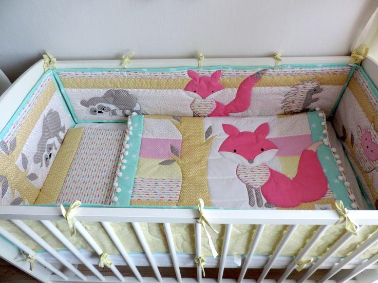 Woodland Girl Nursery Bedding Set Fox Baby Girl Quilt